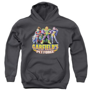 Youth's Charcoal Grey Cotton/Polyester Garfield/Beyond Pull-over Hoodie