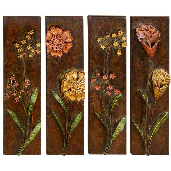 Metal Wall Decor (Set Of 4) Assorted Low Priced