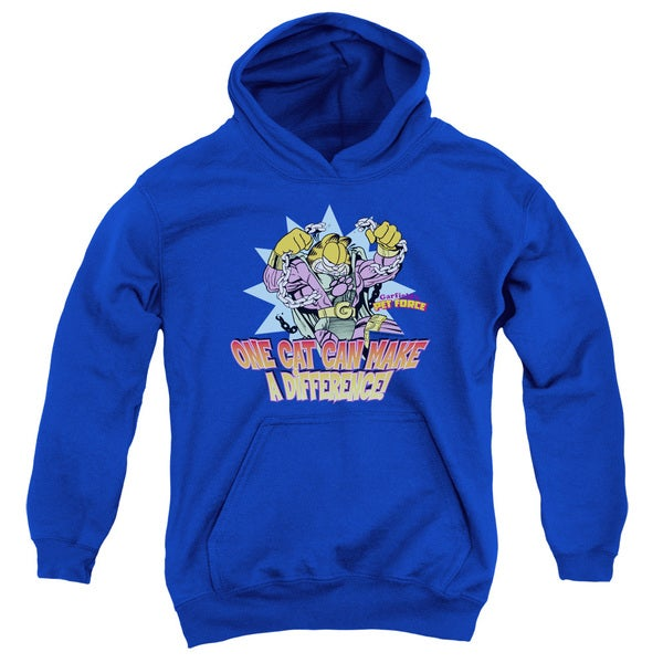 Garfield/Make A Difference Youth Pull-Over Hoodie in Royal