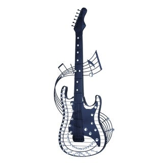 Metal Acrylic Guitar 36 inches high x 14 inches wide Wall Decor