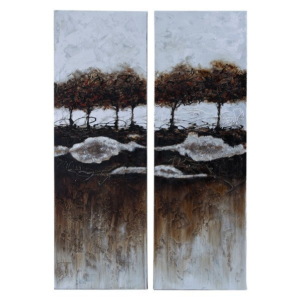 Two Piece Painting For A Vivid Decor