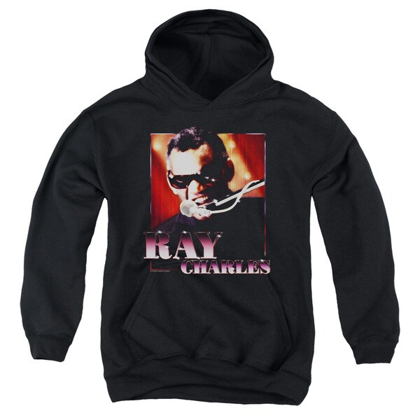 Ray Charles/Sing It Youth Pull-Over Hoodie in Black