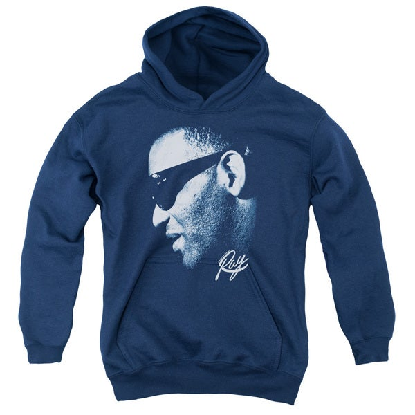 Ray Charles/Blue Ray Youth Pull-Over Hoodie in Navy 18662447