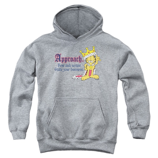Garfield Youth State Your Business Heather Cotton/Polyester Pullover Hoodie