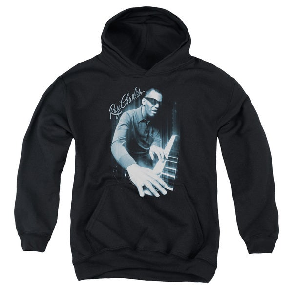 Ray Charles/Blues Piano Black Youth Pullover Hoodie 18662494