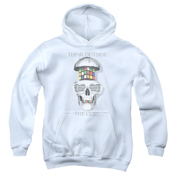 Youth Rubik's Cube/Outside The Cube White Pull-over Hoodie