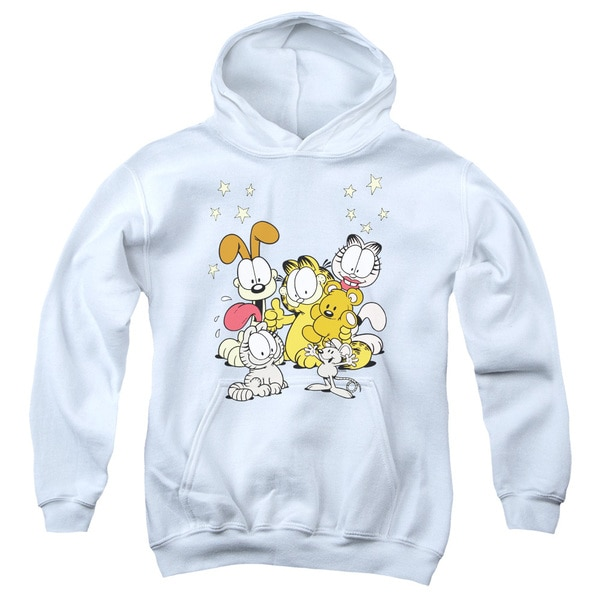 Garfield/Friends Are Best White Youth Pullover Hoodie