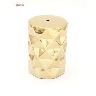 Shimmering Ceramic Gold Stool