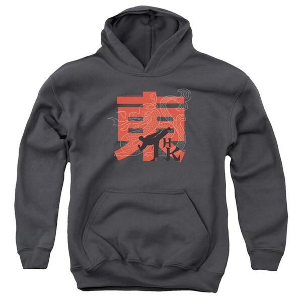 Hai Karate/HK Kick Charcoal Youth Pullover Hoodie