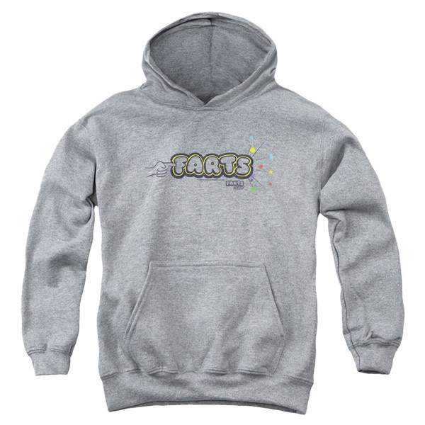 Farts Candy/Finger Logo Youth Pull-Over Hoodie in Heather