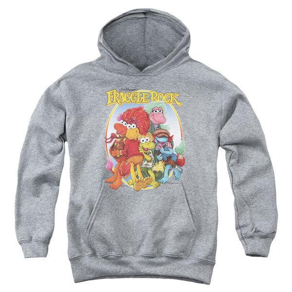 Fraggle Rock/Group Hug Youth Pullover Hoodie in Heather