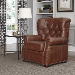 Miles Brown Bonded Leather Stationary Chair