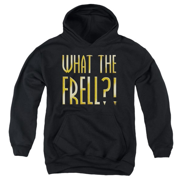 Farscape/What The Frell Youth Pull-Over Hoodie in Black