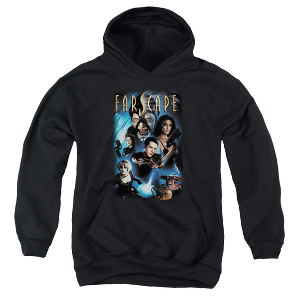 Farscape/Comic Cover Youth Pull-Over Hoodie in Black