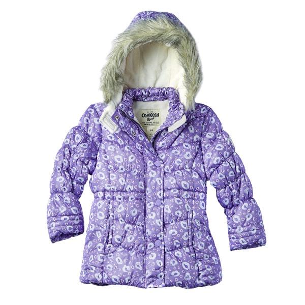 OSHKOSH Toddler Girls' Printed Heavy Jacket