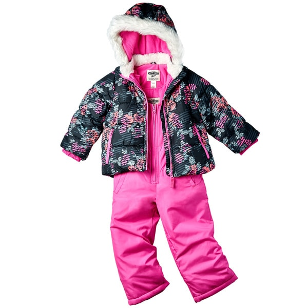 OSHKOSH Infant Girl Snowsuit