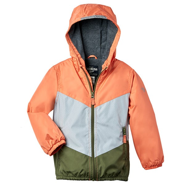 OSHKOSH Boys' Orange Fleece Lined Jacket