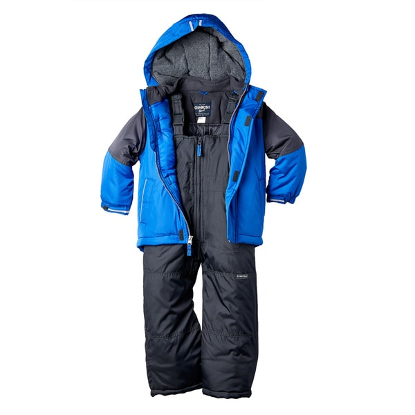 OshKosh Boys' Polyester 2-piece Toddler Hooded Snowsuit