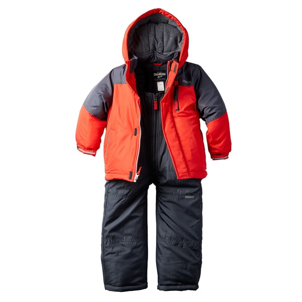 Osh Kosh Boys' Red/Blue Polyester Snowsuit