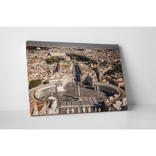 City Skylines 'Rome St. Peter Square' Gallery Wrapped Canvas Wall Art
