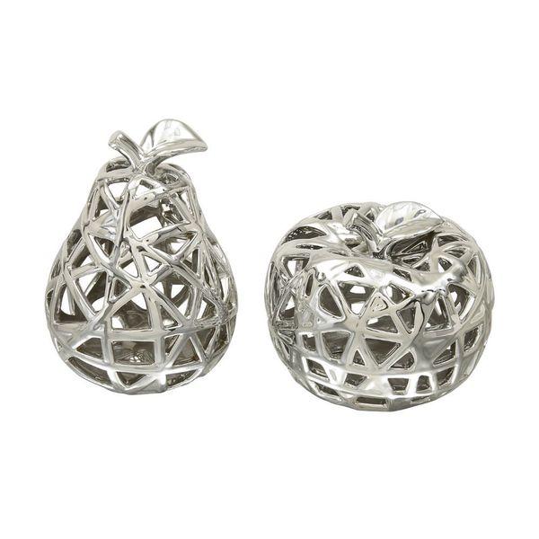 Decorative Ceramic Apple & Pear (Set Of 2)