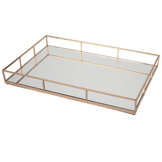 16.5-inch x 11-inch x 2-inch Mirrored Gallery Tray