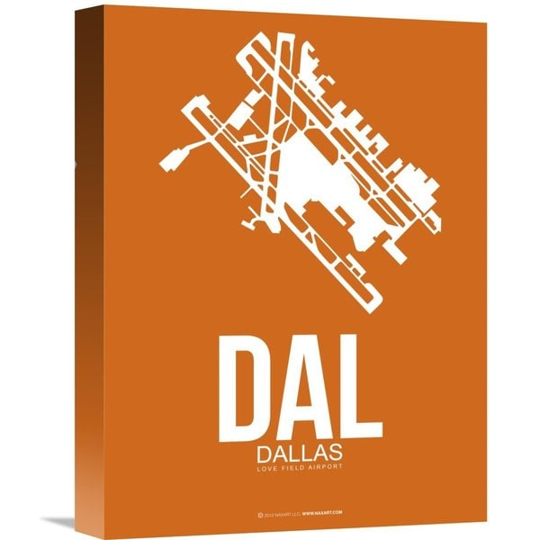 Naxart Studio 'DAL Dallas Poster 2' Stretched Canvas Wall Art