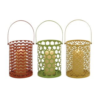 The Stunning Metal Candle Basket 3 Assorted