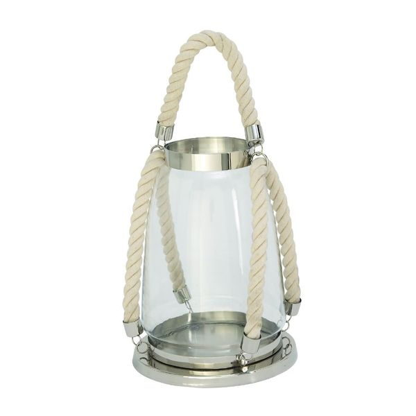 Fashionable Metal Rope Glass Lantern 18665308