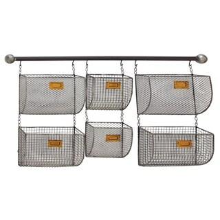Modernly Designed Metal Wall Basket