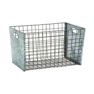 Exclusive Hand Crafted Metal Wire Basket (Large)