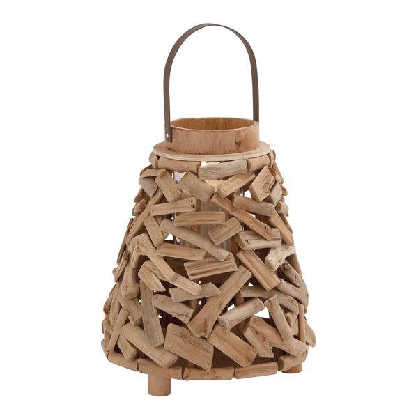 Surprisingly Creative Driftwood Metal Lantern
