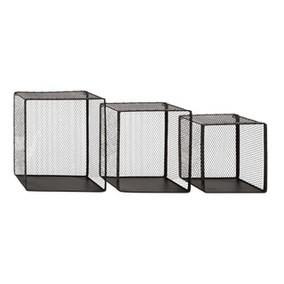 Net Styled Attractive Metal Wire Wall Basket