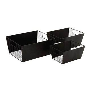 Black Polished Smart Metal Wire Basket