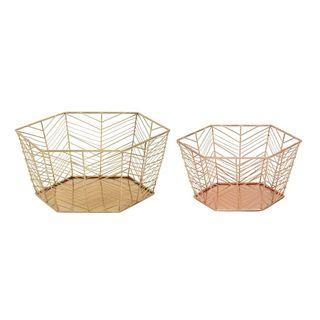 Enduring Metal Basket (Set Of 2)