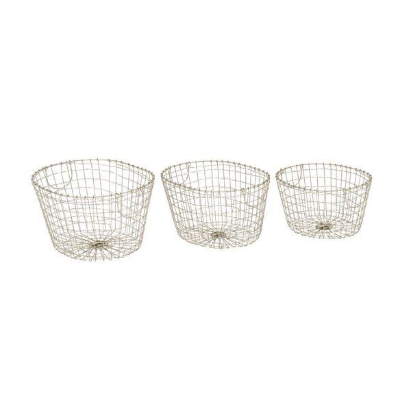 Enduring Metal Wire Basket (Set Of 3)