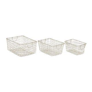 Long-Lasting Metal Wire Basket (Set Of 3)