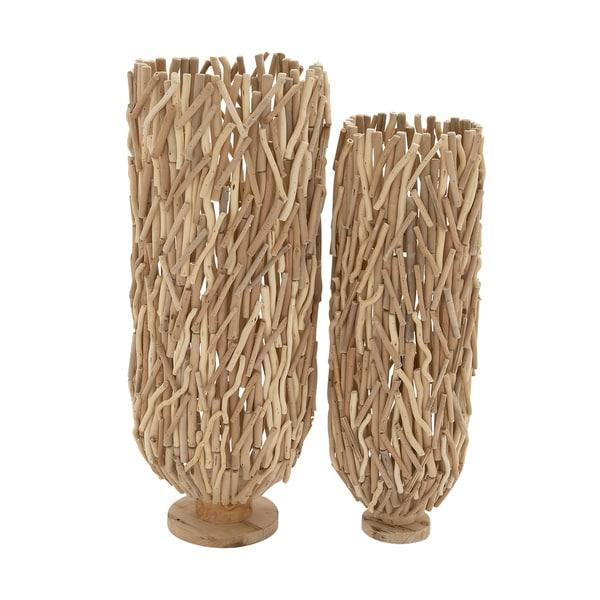 Classy Driftwood Flower Vase (Set Of 2)
