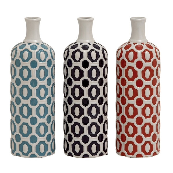 Attractive And Stylish Ceramic Vase 3 Assorted 18665897