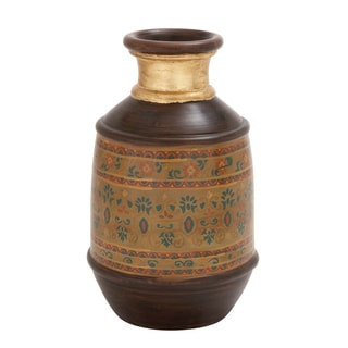 Beautiful Well Designed Terracotta Painted Vase