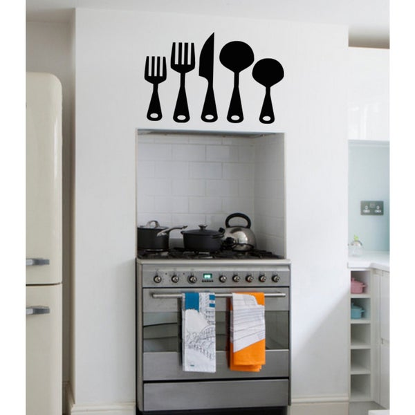 Table set spoon fork knife Wall Art Sticker Decal