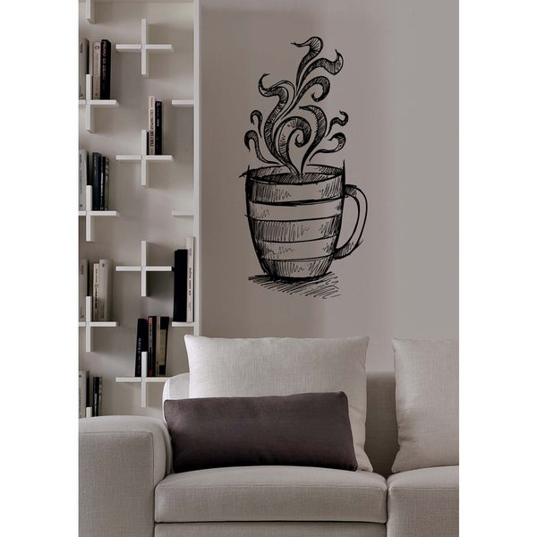 A mug with a hot drink Wall Art Sticker Decal