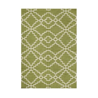 Alliyah Modern Geometric Symbol Of Protection Mesopotamia Handmade Wool Rug (9x12)