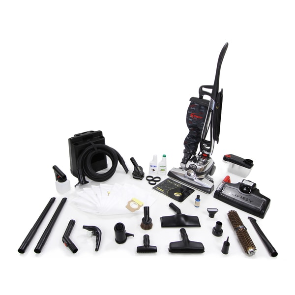 Kirby Avalir Black/Silver 15-inch x 43-inch x 16-inch Upright Vacuum Cleaner With Cleaning Accessories and Tools Reconditioned