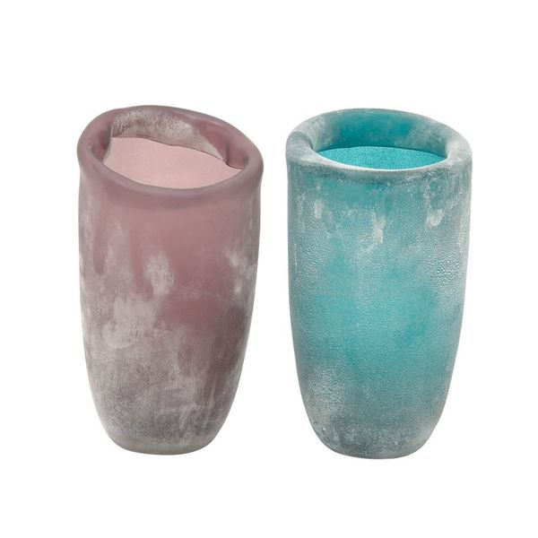 2 Assorted Charming Glass Vases