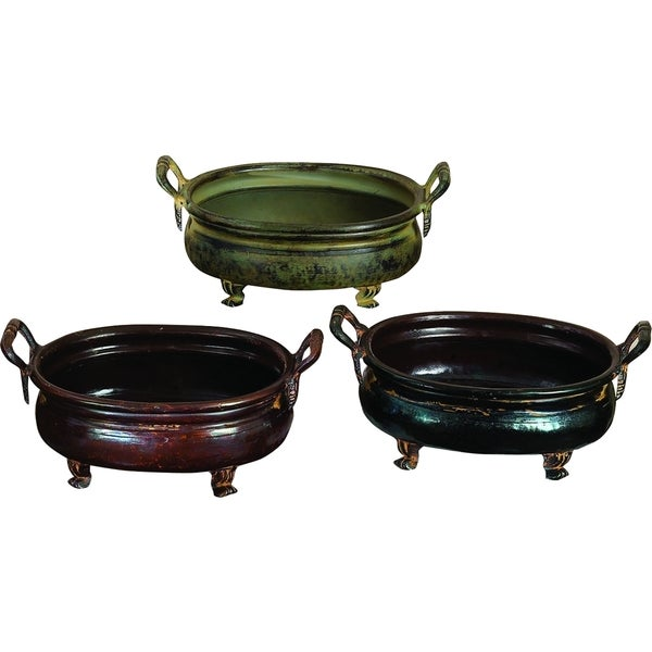 12-inch Metal Planters (Set Of 3)