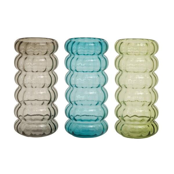 Benzara Colorful Stylish Glass Vase (Assorted Set of 3) 18669683