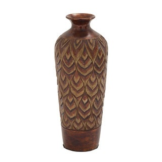 Simply Cool Brown Terra Cotta 30-inch Vase