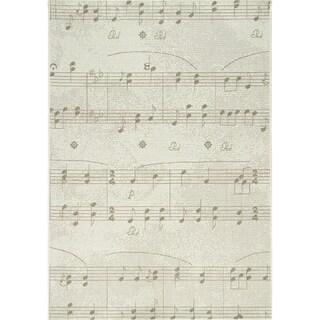 Avenue Sheet Music Flatweave Rug (3'11 x 5'7)