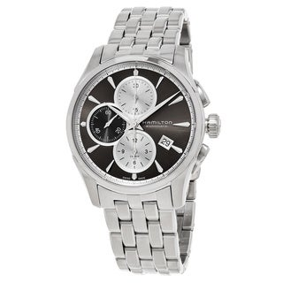 Hamilton Men's H32596181 'Jazzmaster' Grey Dial Stainless Steel Chronograph Swiss Automatic Watch